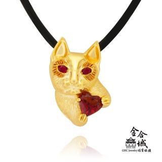 【金合城】神秘貓咪紅碧璽K金墜子 #HO-W02(黃色18K)品牌優惠  金合城