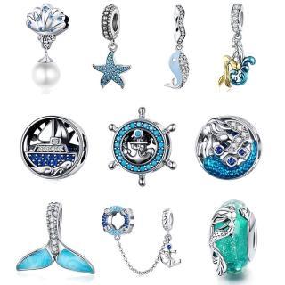 【RJ New York】海洋人魚s925銀晶鑽DIY串珠手鍊吊墬飾(15款可選)  RJ New York