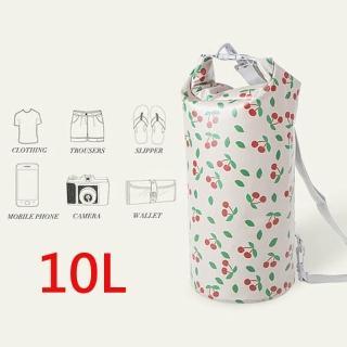 【E.City】10L手提單肩防水圓筒包-繽紛花色系列(可手提、肩背)  E.City
