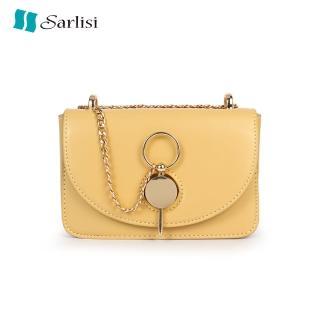 【Sarlisi】夏麗絲夏季女包新款百搭鏈帶側背斜背包時尚小方包(小包款)  Sarlisi