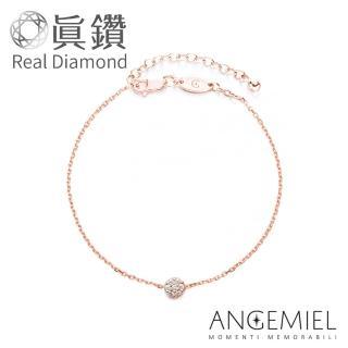 【Angemiel 安婕米】鑽石幸運手鍊-璀璨(玫瑰金)好評推薦  Angemiel 安婕米