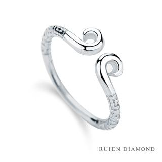 【RUIEN DIAMOND 瑞恩鑽石】情侶對戒 戒圈 愛金箍(18K白金 女戒)  RUIEN DIAMOND 瑞恩鑽石