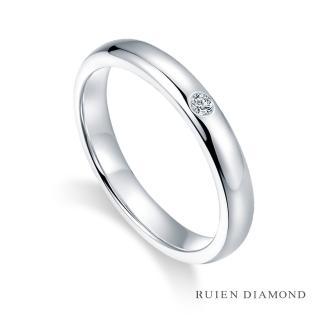 【RUIEN DIAMOND 瑞恩鑽石】1分鑽石戒指 情侶對戒 戒圈(18K金 男戒)  RUIEN DIAMOND 瑞恩鑽石