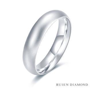 【RUIEN DIAMOND 瑞恩鑽石】情侶對戒 結婚對戒 戒圈(18K白金 男戒) 推薦  RUIEN DIAMOND 瑞恩鑽石