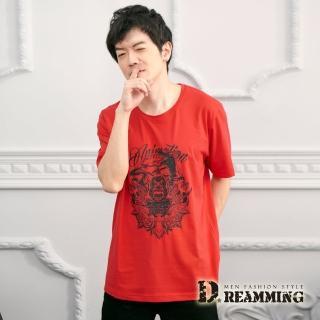【Dreamming】鬼怪鬥魂棉質彈力休閒圓領短T(共二色)  Dreamming