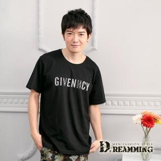 【Dreamming】GIVENHCY棉質彈力休閒圓領短T(共二色)折扣推薦  Dreamming
