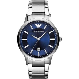 【EMPORIO ARMANI】亞曼尼 紳士簡約手錶-藍x銀/43mm(AR11180)優惠推薦  EMPORIO ARMANI