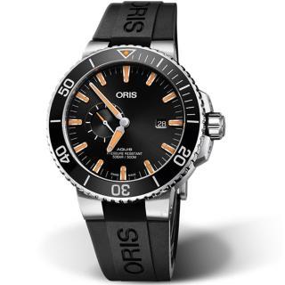 【ORIS 豪利時】AQUIS小秒盤潛水機械錶(0174377334159-0742464EB)  ORIS 豪利時