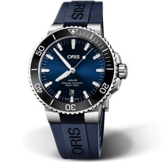 【ORIS 豪利時】Aquis時間之海300米潛水機械錶(0173377304135-0742465EB)  ORIS 豪利時