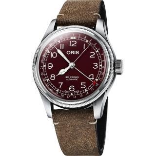 【ORIS 豪利時】Big Crown 紅色復興指針式日期機械錶-40mm(0175477414068-0752050)  ORIS 豪利時