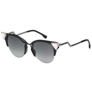 【FENDI 芬迪】名人愛用 太陽眼鏡(黑色FF0041S)  FENDI 芬迪