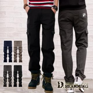 【Dreamming】精選熱銷多口袋伸縮休閒長褲 工作褲(共四款)  Dreamming