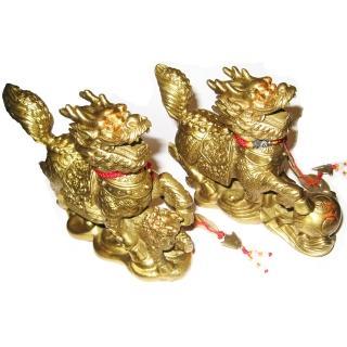【開運陶源】大 銅雕一對 開光純銅(貔貅麒麟)  開運陶源