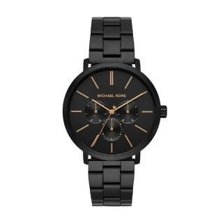 【Michael Kors】美式經典個性黑鋼時尚腕錶(MK8703)折扣推薦  Michael Kors