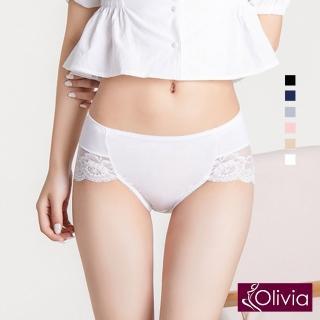 【Olivia 奧莉葳】性感高叉牛奶絲蕾絲高腰內褲-白色評價推薦  Olivia 奧莉葳