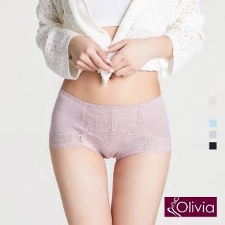 【Olivia 奧莉葳】莫代爾蕾絲包臀高腰內褲-豆沙色  Olivia 奧莉葳