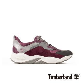 【Timberland】女款深紫色金屬皮革厚底運動鞋(A23EMX34)  Timberland