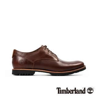 【Timberland】男款中棕色全粒面革防水牛津休閒鞋(A2CBD140)  Timberland