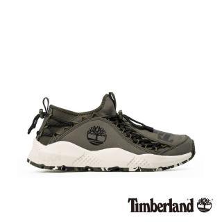 【Timberland】男款NNH深綠色尼龍織物防潑水防汙運動鞋(A215BA58)  Timberland