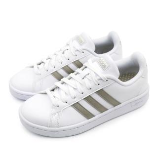 【adidas 愛迪達】GRAND COURT 白-F36485(女休閒鞋)  adidas 愛迪達