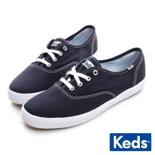 【Keds】品牌經典綁帶休閒鞋(藍色)  Keds