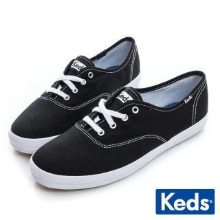 【Keds】品牌經典綁帶休閒鞋(黑色)品牌優惠  Keds