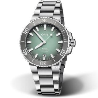 【ORIS 豪利時】Aquis時間之海300米潛水錶(73377324137-0782105PEB 薄荷灰)好評推薦  ORIS 豪利時