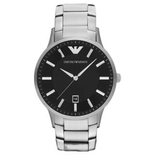【EMPORIO ARMANI】時尚典範紳士日期腕錶-銀X黑(AR11181)好評推薦  EMPORIO ARMANI