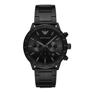 【EMPORIO ARMANI】嶄新時尚三眼腕錶-黑(AR11242)  EMPORIO ARMANI