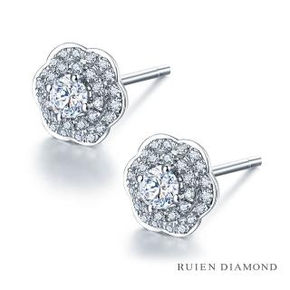 【RUIEN DIAMOND 瑞恩鑽石】輕珠寶系列 33分 鑽石耳環(18K金)  RUIEN DIAMOND 瑞恩鑽石