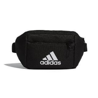 【adidas 愛迪達】腰包 EC WB 休閒 輕便 穿搭 基本款 愛迪達 斜背包 外出 手機包 街頭風 黑 白(ED6876)  adidas 愛迪達