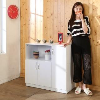 【BuyJM】低甲醛防潑水三門電器櫃/廚房櫃/電器架/收納櫃優惠推薦  BuyJM
