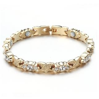 【RJ New York】唯美浪漫風格白彩水晶鍺元素手環(2色可選)  RJ New York