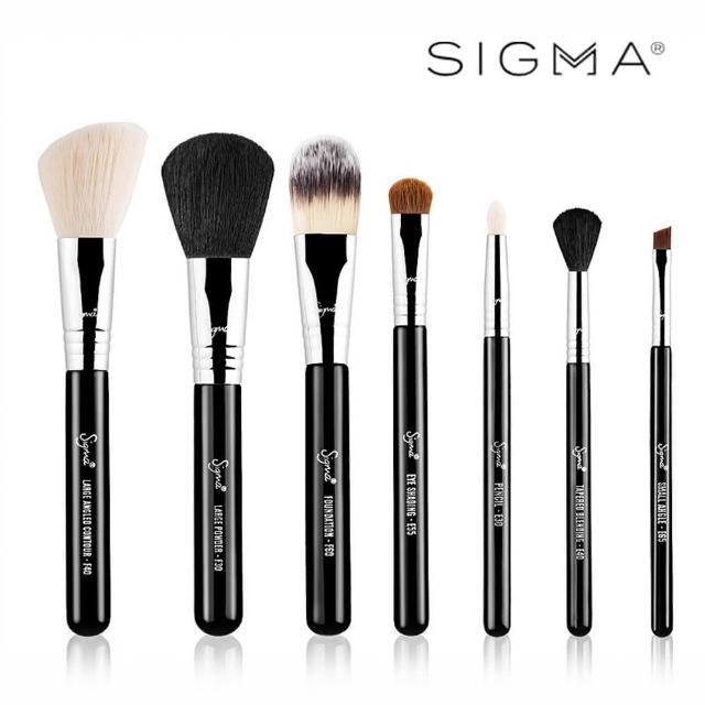 【Sigma】Sigma 刷具7件組-含刷具筒 Essential Travel Brush Set(原廠公司貨)