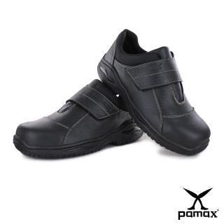 【PAMAX 帕瑪斯】黏貼式鋼頭鞋、高抓地力工作安全鞋(PA02401FEH黑 /男女/有大尺寸)  PAMAX 帕瑪斯