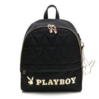 【PLAYBOY】小後背包 金典小兔系列(黑色)  PLAYBOY