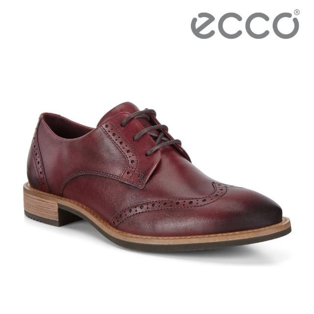【ecco】SARTORELLE 25 TAILORED 英式復古牛津鞋 女(酒紅色 26636301070)