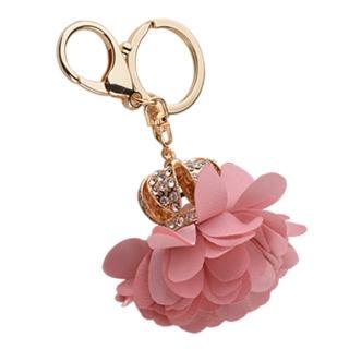 【RJ New York】貴族皇冠手工質感玫瑰花鑲鑽鑰匙圈(3色可選)優惠推薦  RJ New York