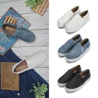 【FUFA Shoes 富發牌】星星皮質感懶人鞋-白 1BD10  FUFA Shoes 富發牌