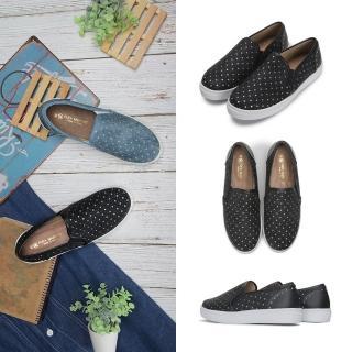 【FUFA Shoes 富發牌】星星皮質感懶人鞋-黑 1BD10評價推薦  FUFA Shoes 富發牌