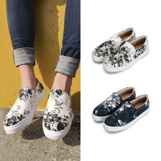 【FUFA Shoes 富發牌】復刻水墨印花便鞋-藍 1BD43 推薦  FUFA Shoes 富發牌