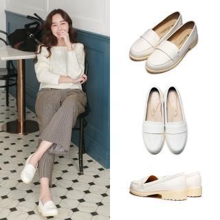 【FUFA Shoes 富發牌】典雅英倫風氣質樂福鞋-白 1CT28  FUFA Shoes 富發牌