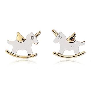 【RJ New York】獨腳獸木馬樂園童趣耳環(耳針耳夾兩款可選)品牌優惠  RJ New York