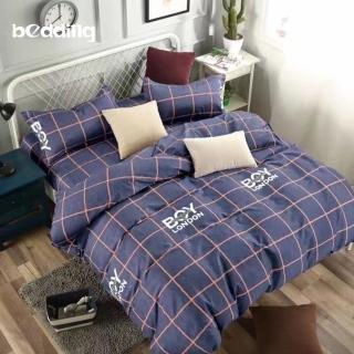 【BEDDING】活性印染-加大6尺雙人薄式床包枕套三件式-英倫學院好評推薦  BEDDING
