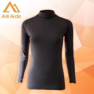 【Anti Arctic】遠紅外線機能衣-女高領-黑(遠紅外線機能衣)好評推薦  Anti Arctic