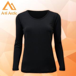 【Anti Arctic】遠紅外線機能衣-女U領-黑(遠紅外線機能衣) 推薦  Anti Arctic
