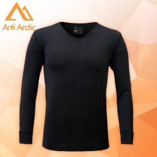 【Anti Arctic】3M-遠紅外線機能衣-男V領-黑(遠紅外線機能衣) 推薦  Anti Arctic