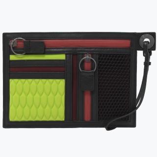 【KENZO】經典LOGO手提商務萬用包/手拿包(黑綠)  KENZO