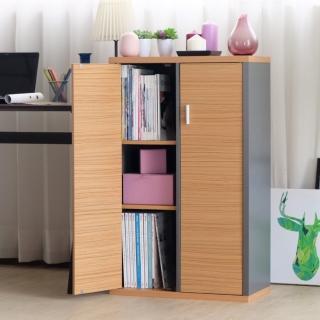 【EASY HOME】加厚六格雙門收納書櫃  EASY HOME
