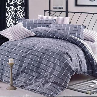 【Indian】純棉雙人床包兩用被四件組(格雷諾)品牌優惠  Indian